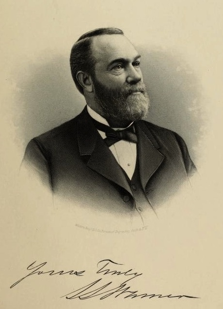 "S. S. Warner. From ""Commemorative Biographical Record of the Counties of Huron and Lorain, Ohio"" (1894), pg. 725."