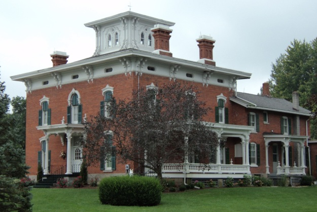 The S. S. Warner House, now Norton-Eastman Funeral Home. Located at 370 South Main Street, Wellington, Ohio. Photo by author.