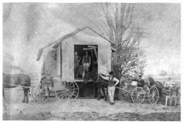 "Undated image of workers at a local cheese house. Photo 970539 of ""Wellington Family Album"" Collection, Herrick Memorial Library. Permission to display generously granted by the library."