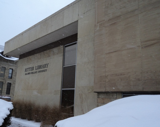 Ritter Library, home of the Baldwin Wallace University Archive, Berea, Ohio. Photo by author.