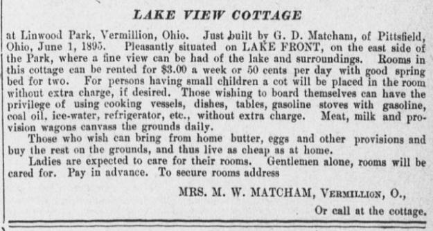 "Rental advertisement, ""Wellington Enterprise,"" 8-28-1895, pg. 8."