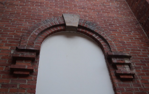 Architectural detail of the old Union School, now part of McCormick Middle School, Wellington, Ohio. Photo by author.